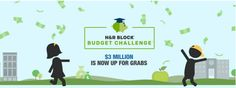 Recently, H&R Block approached me with this opportunity to once again share their budget challenge. I was happy to do so, as we enter 2016.  It's exciting to see that they are offering the chance for more students and teachers to take part. Take a read below to find out just how you can get involved!