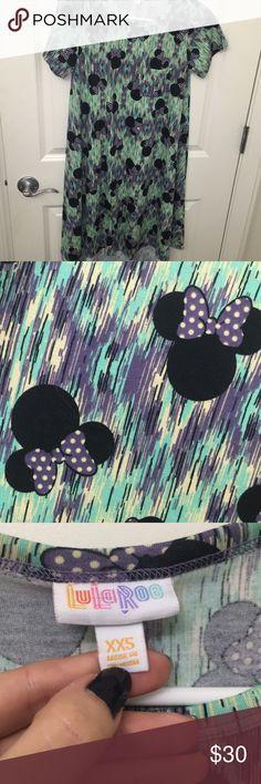 LulaRoe Disney Carly Worn once LulaRoe Disney Carly. Size XXS LuLaRoe Dresses High Low
