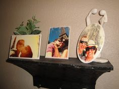 How to put photos on wood or metal, customized coasters made from bathroom tiles & other cool craft projects