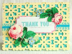 Card project from the Anna Griffin Summer Soirees cartridge