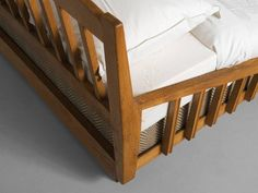 Guillerme & Chambron Art Deco Bed in Solid Oak 5