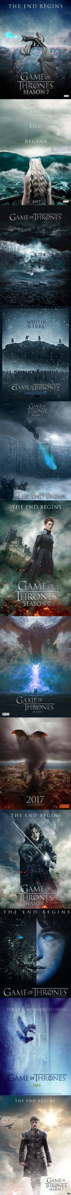 Game of Thrones Season 7 Posters (Fan Made) - The Grumpy Fish