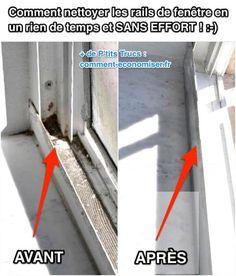Quelle est l'astuce la plus facile et la plus efficace pour nettoyer les rails de fenêtre ?