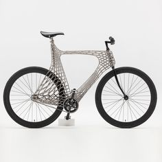 Arc Bicycle has 3D-printed steel frame created by TU Delft students and MX3D