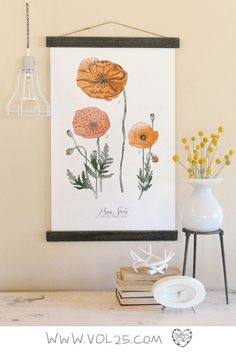 Vintage inspired science poppy poster | by vol25