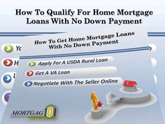 how to get mortgage with no down payment