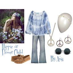 Hippie or Flower Child Costume by Ang