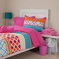 TWIN XL Teenage Girl's Lavish Home Terri 22 Piece Teen Pink Mod Reversible College Set Dorm Collection with Bedding, Towels & Toiletry Accessories Lavish Home http://www.amazon.com/dp/B00L6NTEFM/ref=cm_sw_r_pi_dp_VWaVtb03ZWBS6EQK