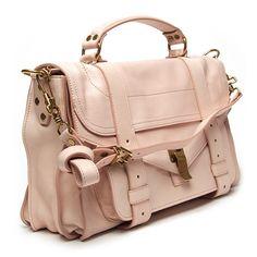 Proenza Schouler PS1 Medium Shoulder Bag ($1,695) ❤ liked on Polyvore featuring bags, handbags, shoulder bags, purses, bolsas, accessories, leather handbags, pink purse, leather hand bags and hand bags