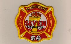 """FDNY Engine 7, """"Magnificent 7 """"  Need a patch?  Shop online:  http://www.nyfirestore.com"""