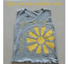 Tutorial: You Are My Sunshine top