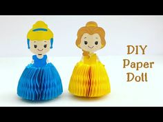 crafts with paper - YouTube Paper Crafts Origami, Diy Paper, Paper Crafting, Easy Crafts For Kids, Diy For Kids, Cartoon Paper, Disney Princess Dolls, Disney Fun, Paper Dolls