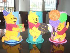 Decoracion de fiestas infantiles winnie pooh centros de for Decoracion winnie pooh para fiesta infantil