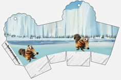 Ice Age: Cajas para Imprimir Gratis.