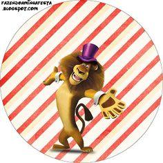 Madagascar 3 Circo - Kit Completo com molduras para convites, rótulos para guloseimas, lembrancinhas e imagens!