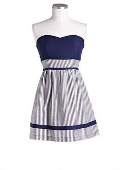 Tube Pinstripe Dress
