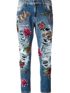 Dolce & Gabbana 'sacred Heart' Embellished Jeans - Auzmendi - Farfetch.com