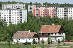 Open-air museum (skansen) Stará Ves in Chomutov, Czech