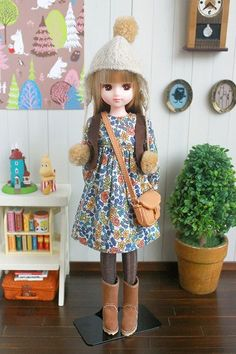 めんコイキング - 『こけしの日記』 Pretty Dolls, Cute Dolls, Beautiful Dolls, Doll Crafts, Diy Doll, Doll Clothes Patterns, Clothing Patterns, Blythe Dolls, Barbie Dolls