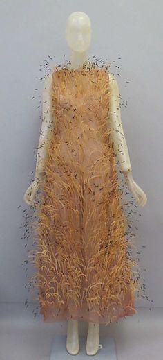 Ensemble,  House of Balenciaga (French, founded 1937) Designer: Cristobal Balenciaga (Spanish, Guetaria, San Sebastian 1895–1972 Javea) Date: ca. 1965 Culture: Spanish Medium: silk, feathers