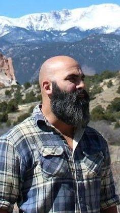 Grey Beards, Long Beards, Long Beard Styles, Hair And Beard Styles, Bald Men Style, Beard Images, Funky Shirts, Beard Rules, Bald With Beard