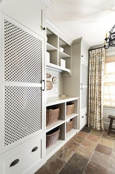 Organizing Solutions - Laundry Room Envy! Love the custom cabinets vented keeping the washer and dryer hidden