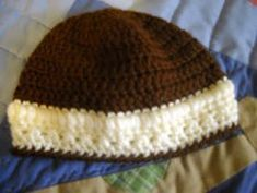 X's and O's Infant Beanie Style Hat/ easy / FREE CROCHET pattern