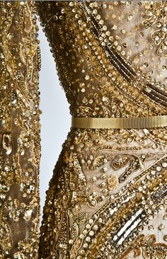 Ellie Saab , Bonnaz #Embroidery and #Beading  #Beautiful