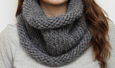 Knit cowl pattern.