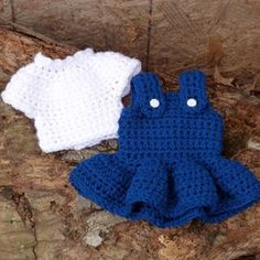 Crochet Pattern: Doll Blouse and Jumper