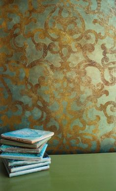 Donatella Damask Stencil | Finish by Ali Kay of Positive Space