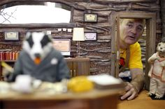 Bill Murray on-set of Fantastic Mr. Fox (2009)
