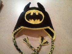 Batman Crochet Hat with Earflaps by JessicaSayreCrochet on Etsy, $18.00