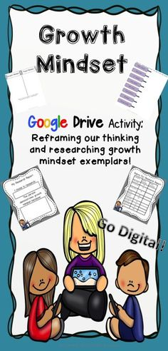 Teach growth mindset in a digital way!  Two activities and a research report template on Google slides!