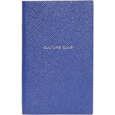 SMYTHSON Culture Club Notebook ($81) ❤ liked on Polyvore featuring home, home decor and stationery
