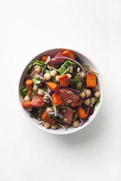 Citrus Kale Salad with Easy Tahini Dressing (Vegan
