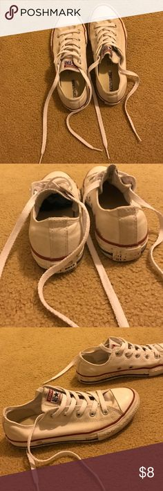 White converse Worn out// dirty Converse Shoes Sneakers