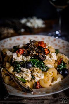 Ina Is(s)t: Mediterrane Weißwein-Pasta mit Spinat