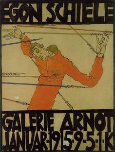 아르노 화랑 전시 포스터, 에곤실레, 1914