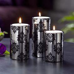 P91403 - Trio de porte-maxi bougies à réchaud Passion