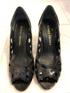 9d9cb0df8f Audrey Brooke Womens Heels SZ 5 1/2 Black Leather Shoes #fashion #clothing