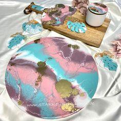 Resin Tischplatte aus meiner Pastell-Serie www.STARKE-impressionen.de #wohnideen #beistelltisch #resinart #pastellfarben #dekoidee Germany, Birthday Cake, Photo And Video, Instagram, Artist, Desserts, Food, Pastel Colors, Decorating Ideas