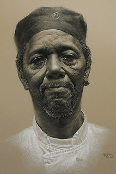 """George"" - Zimou Tan, willow charcoal, and white chalk on toned paper, 2012 {figurative realism male head elderly bearded man face portrait drawing} ""Photography is meant to capture a moment, and painting is meant to create a moment."" zimoutanart.com"