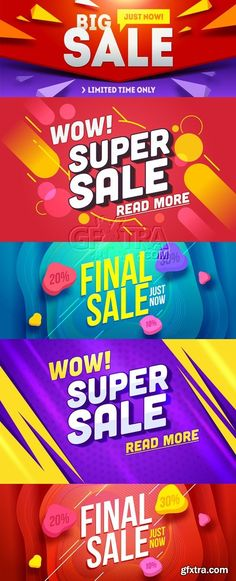 Sale Posters Vector
