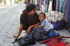 Such a sweet family! Mother and child in Santa Catarina Poropo, Guatemala