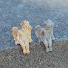 *SALE* Dollhouse Miniature Aged Grey Cherub Stand by Falcon Miniatures