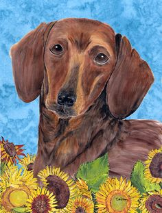 Dachshund Garden Flag   Flower Blossoms (B/T) | My Wish List | Pinterest |  Flower Blossom, Dachshunds And Weenie Dogs