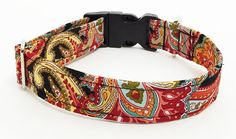 Paisley Adjustable Dog Collar  Made to Order  by JinsK9Kreations