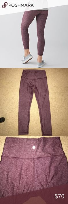 Lululemon Crops In great used condition. Smoke free/pet free home. Size 6! They are super comfy, but have just been sitting in my closet... ready for a new owner! Pretty sure these are Wunder Under lululemon athletica Pants Leggings