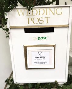 Wedding post box available to hire